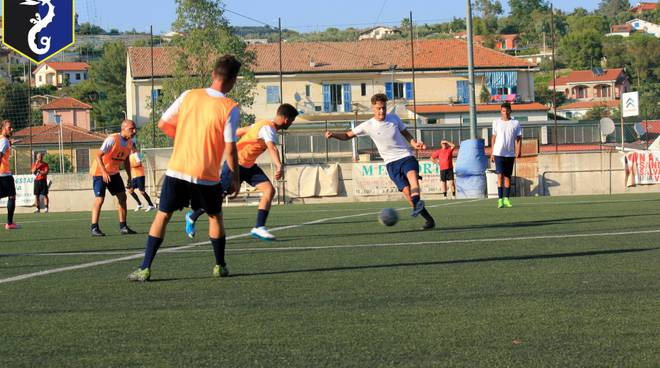 primo allenamento Imperia calcio
