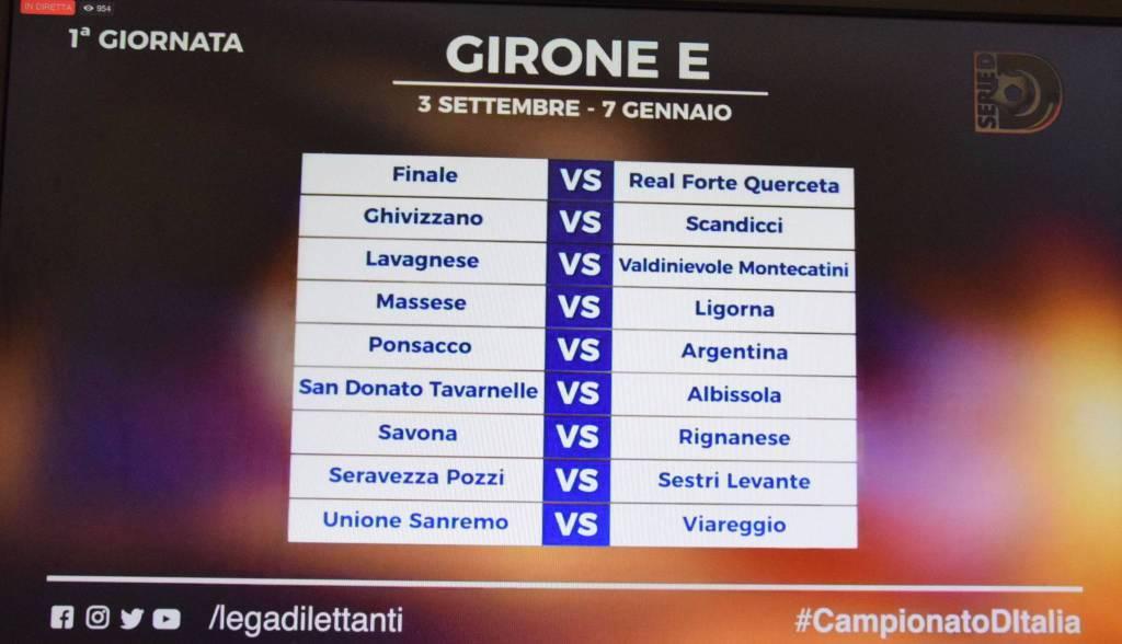 Serie A Calendario 6 Giornata.Presentato Il Calendario Del Girone E Di Serie D Alla 6