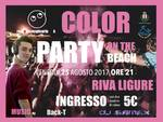 riviera24 - Color party in spiaggia a Riva Ligure