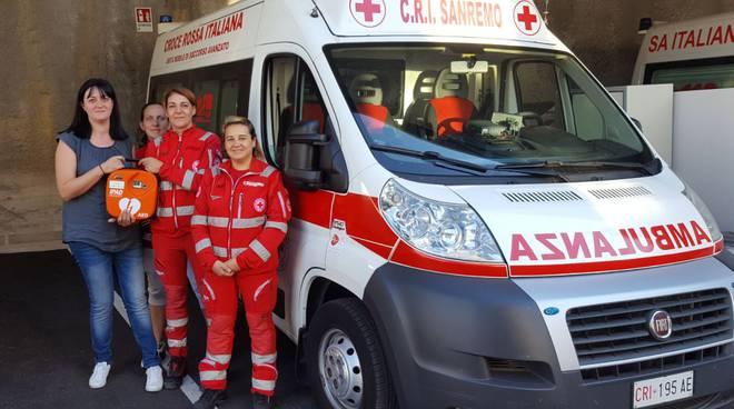 riviera24 - Defibrillatore a CRI Sanremo