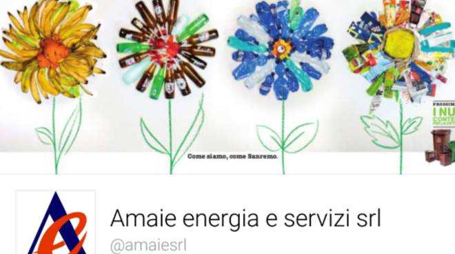 Amaie Energia Sanremo, pagina Facebook