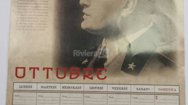 Calendario Mussolini Vallecrosia