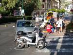 Incidente auto scooter a Ospedaletti