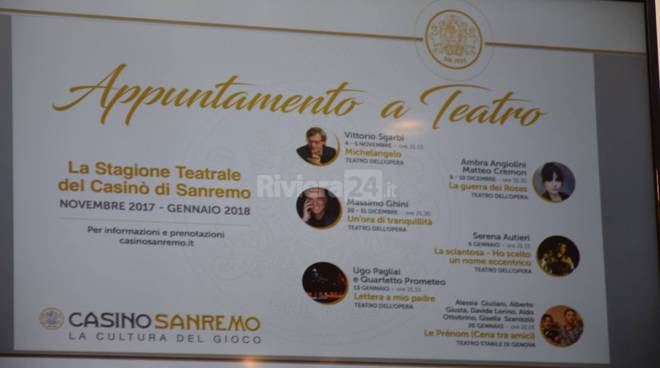 riviera24 -  Stagione teatrale casinò 2017-2018