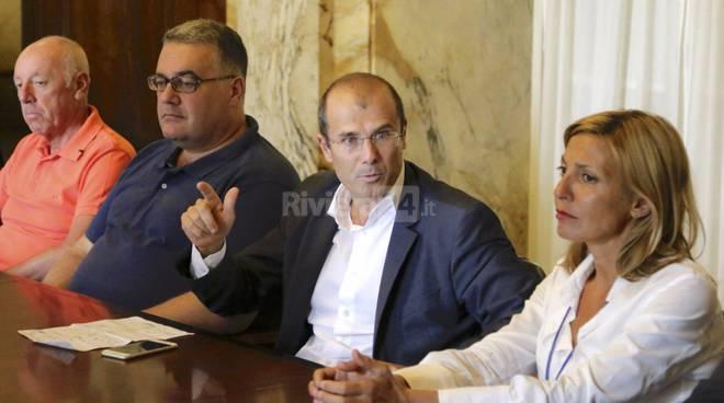 Riviera24-Sanremo al Centro, in conferenza stampa biale, sindoni, marenco, faraldi,