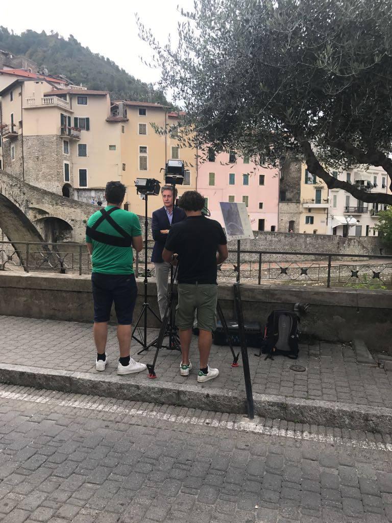 Tv tedesca realizza reportage sul soggiorno di Monet a Bordighera