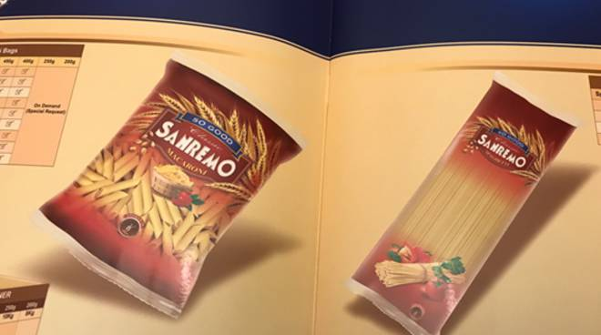 """pasta """"Sanremo"""" contraffatta"""