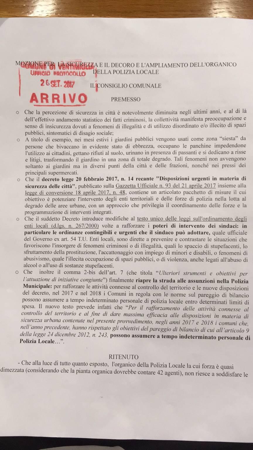 Riviera 24- ordinanza Ventimiglia