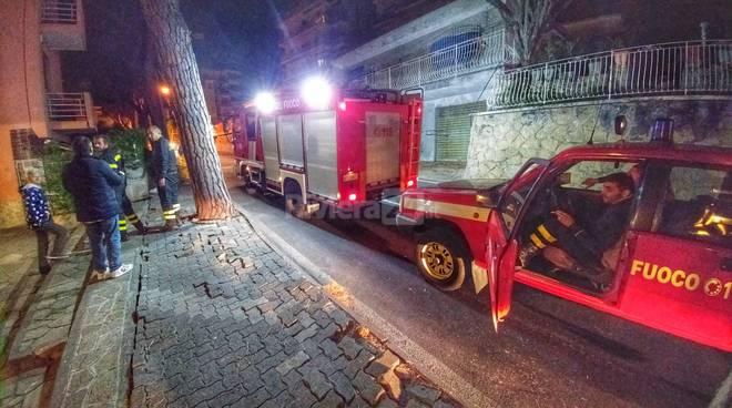 Riviera24-vigili del fuoco ramo albero caduto notte