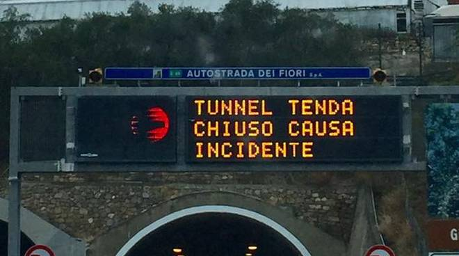 riviera24 - chiuso il tunnel del tenda
