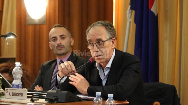 Riviera24-sindaco biancheri consiglio comunale marco sarlo