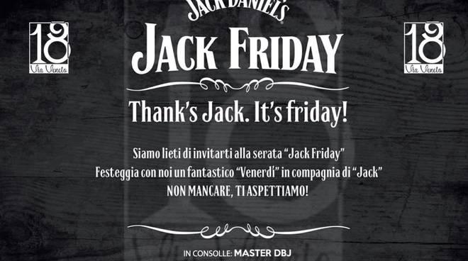 "Sanremo, ""Via Veneto 18"" serata ""Jack Friday"""