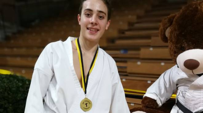 Christopher Pannese del Karate Sanremo