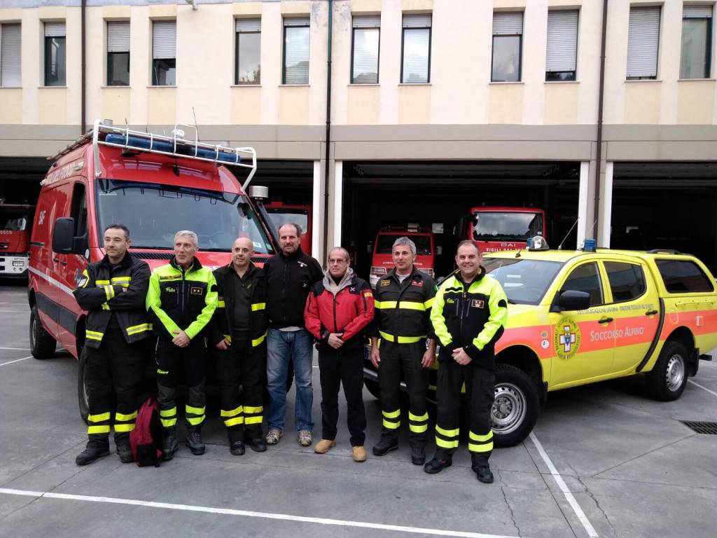 riviera24 - CNSAS e corpo SAF dei vigili del fuoco