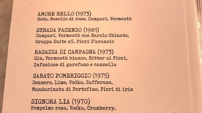 21 Bistrot Sanremo, menu Baglioni