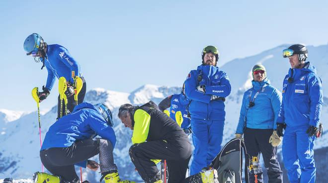 riviera24 - Allenamenti di nazionale maschile di sci alpino