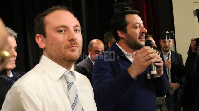 Riviera24-Matteo Salvini a Ventimiglia per lanciare la candidatura di Di Muro