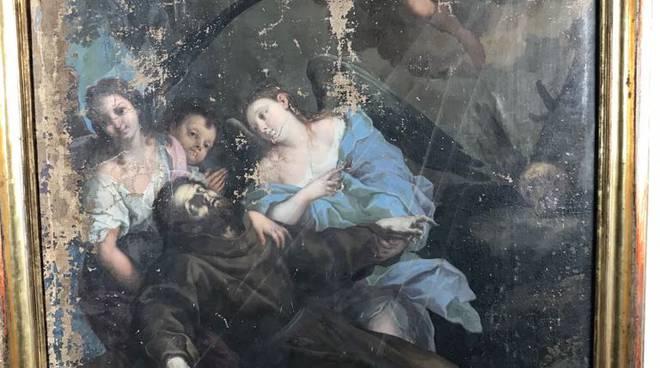 san francesco con angeli