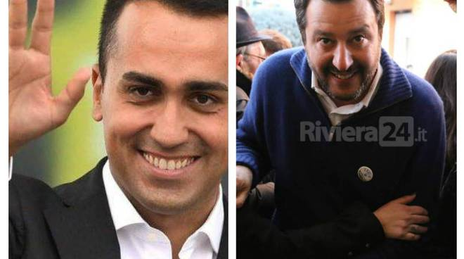 Di Maio - Salvini collage