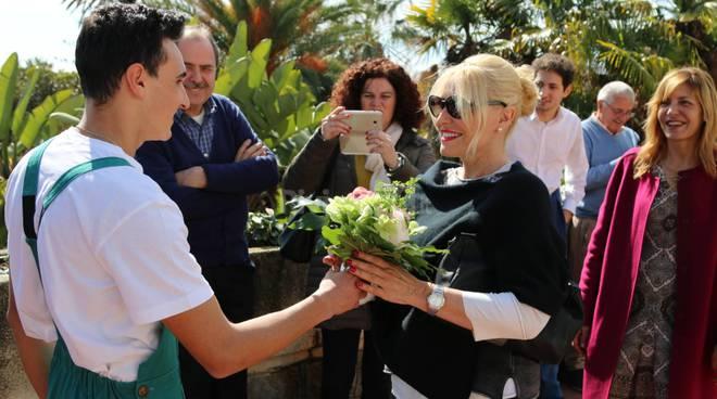 Riviera24-Antonella Clerici  Villa Ormond studenti alberghiero e dell'agraria