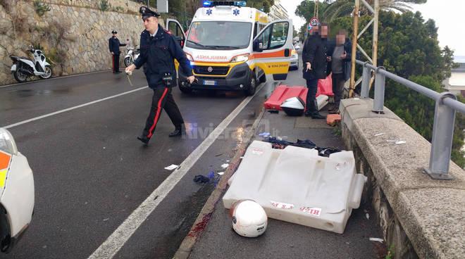 riviera24-Grave incidente ad Ospedaletti, i soccorsi sull'Aurelia