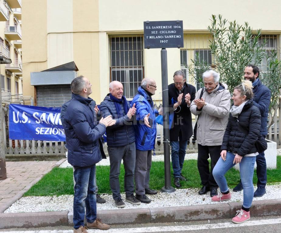 riviera24 - Un tratto di ciclabile intitolato all'Unione Sportiva Sanremese