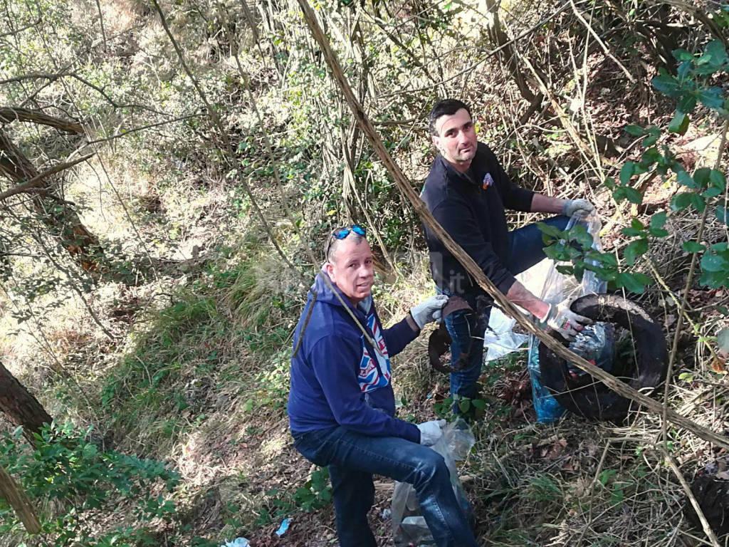 riviera24 - Boschi di San Romolo pulizia softgunner di Ospedaletti e Sanremo