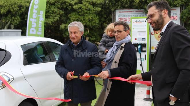 riviera24-colonnine elettrice taggia inaugurazione