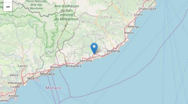 Scossa terremoto Taggia, 29 aprile 2018