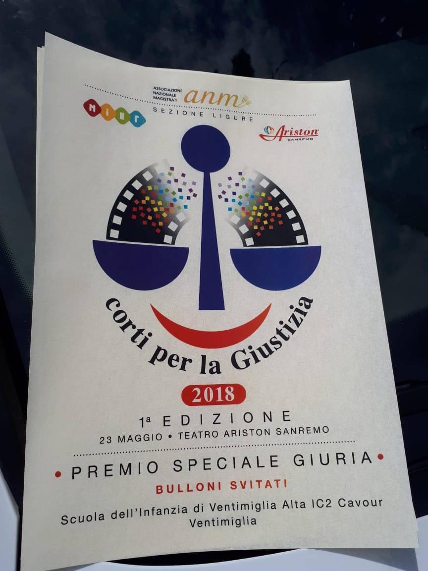 """Ventimiglia, all'I.C Cavour va il """"premio speciale""""  al teatro Ariston"""