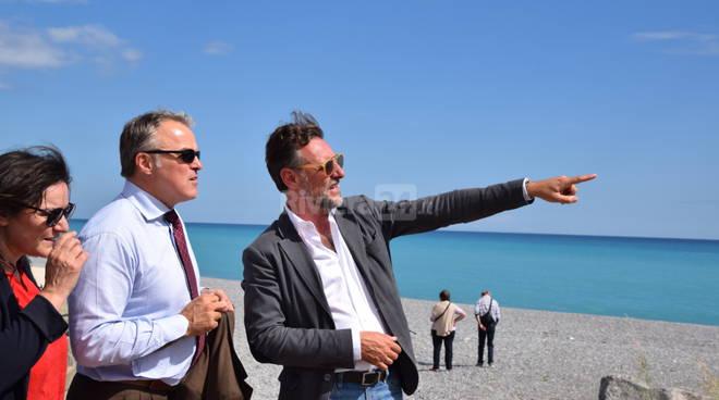 Assessore regionale Benveduti a Bordighera per sopralluogo ciclabile