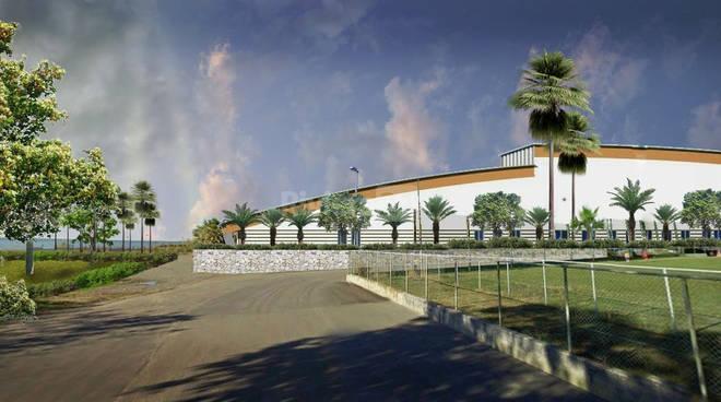 Il progetto del Palasport nelle immagini dei rendering