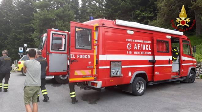 ricerche disperso vigili del fuoco gouta