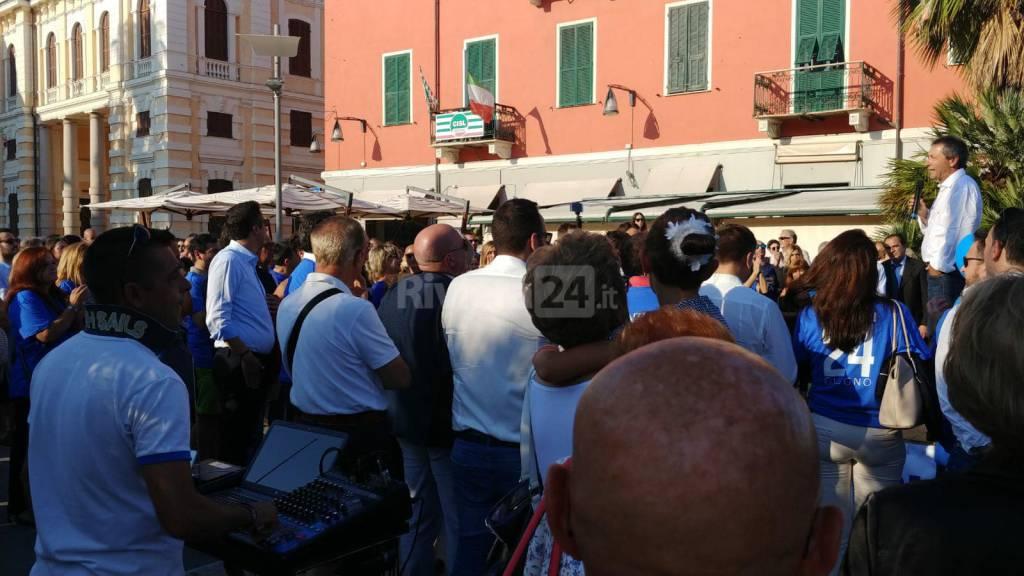 riviera24 - comizio fine campagna elettorale Luca Lanteri