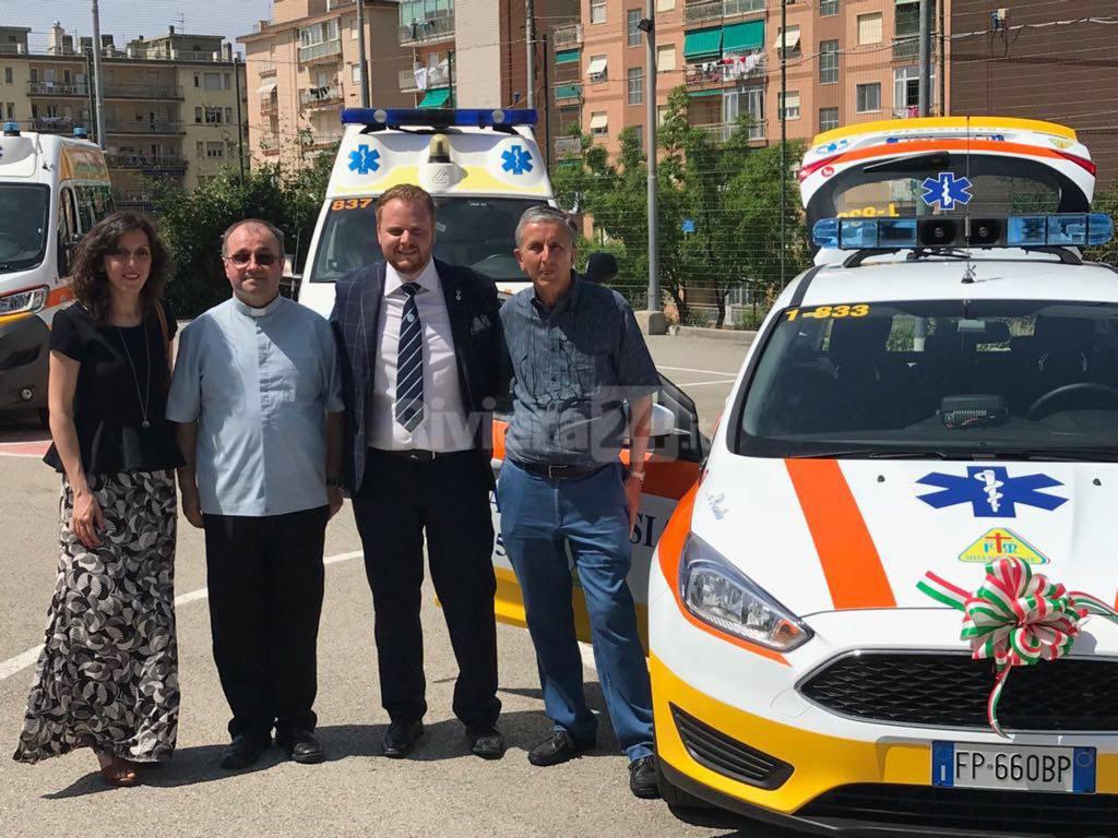 riviera24-Croce Azzurra Vallecrosia, inaugurata la nuova automedica dedicata a Rossella