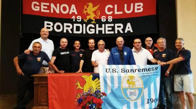 riviera24 - gli Irriducibili della Sanremese in visita al museo del Genoa Club Bordighera
