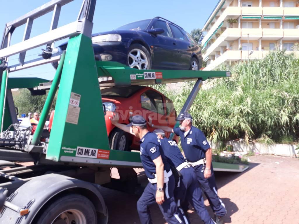 riviera24-Sanremo, smantellato camping abusivo per senza tetto