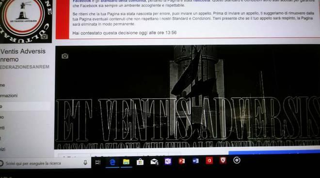 "riviera24 - Facebook censura l'associazione culturale sanremese ""Et Ventis Adversis"""
