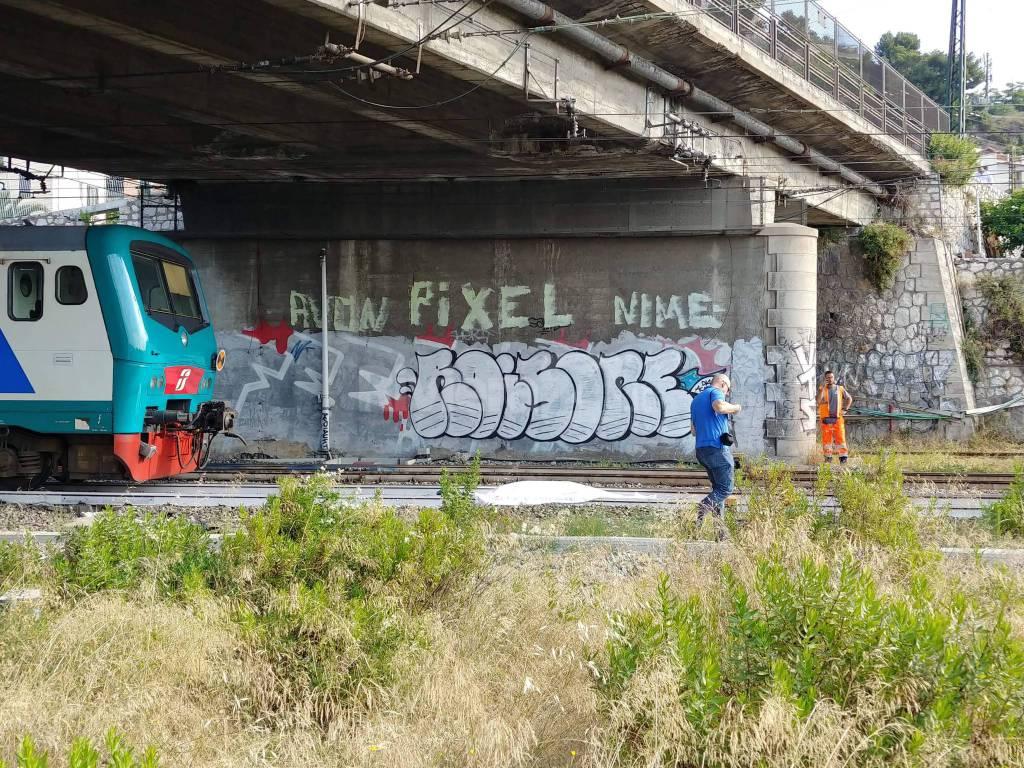 Riviera24-investito binari nervia treno ventimiglia