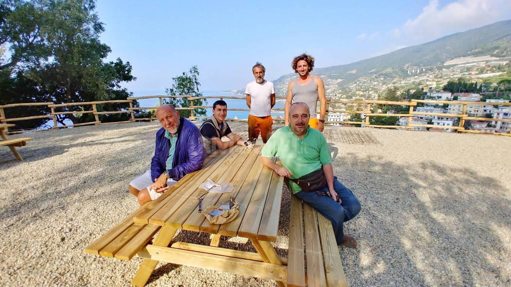 riviera24-Ospedaletti belvedere vista mare il Gallo Nero diventa un'area picnic