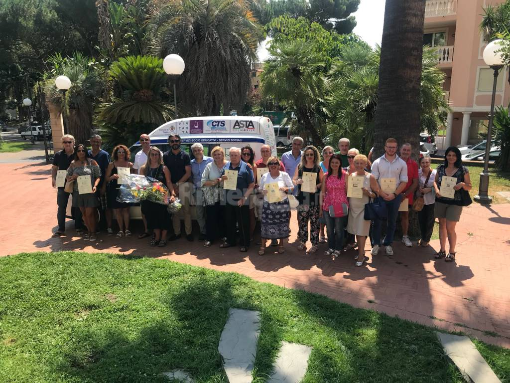 riviera24-Taggia, donato al Comune un nuovo mezzo per i servizi sociali