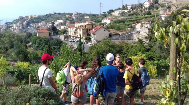 Sanremo, bambini Adgp alla Fattoria Attiva di Bigio Mauro