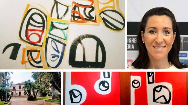 Taggia, mostra Pulinetti a Villa Boselli collage