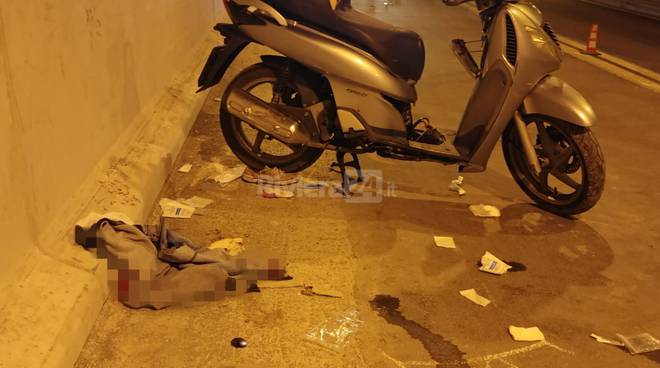 Incidente scooter galleria Airole