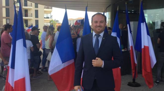 Flavio Di Muro al convegno di Marine Le Pen