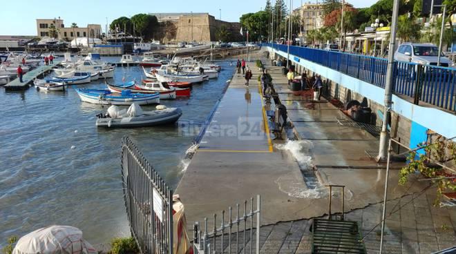 riviera24-danni alla costa sanremese e a quella di Ospedaletti maltempo mareggiata