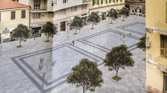 riviera24-piazza borea restyling rendering sanremo