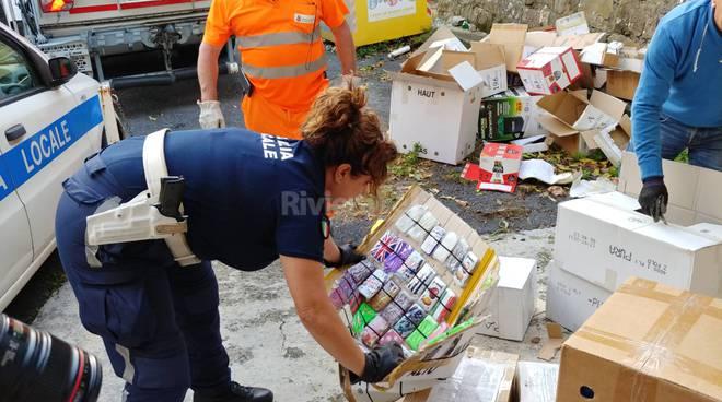 riviera24-Sanremo, al macero 17 mila patacche sequestrate dalla Municipale