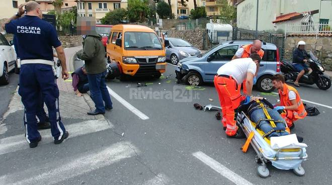 riviera24 - sanremo incidente via san francesco soccorsi 118
