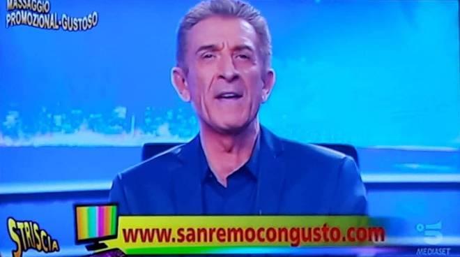 """""""Sanremo con gusto"""" su Striscia la notizia"""